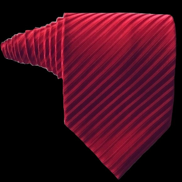 Ermenegildo Zegna Other - Ermenegildo Zegna Red Textured Tie